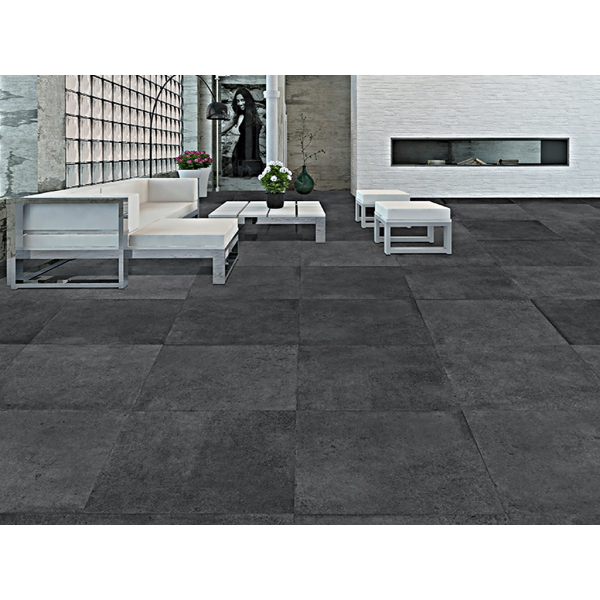 ALTAIR BLACK RECTIFIED LAPPATO TILES 75 CM X 75 CM