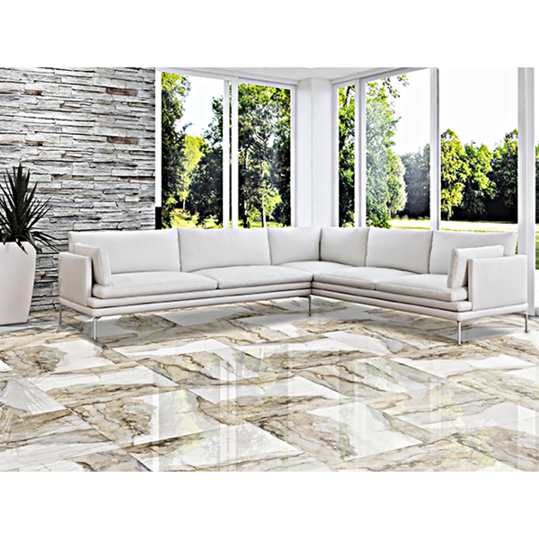 NELIA BLANCO RECTIFIED MARBLE PORCELAIN TILES 59 CM X 59 CM