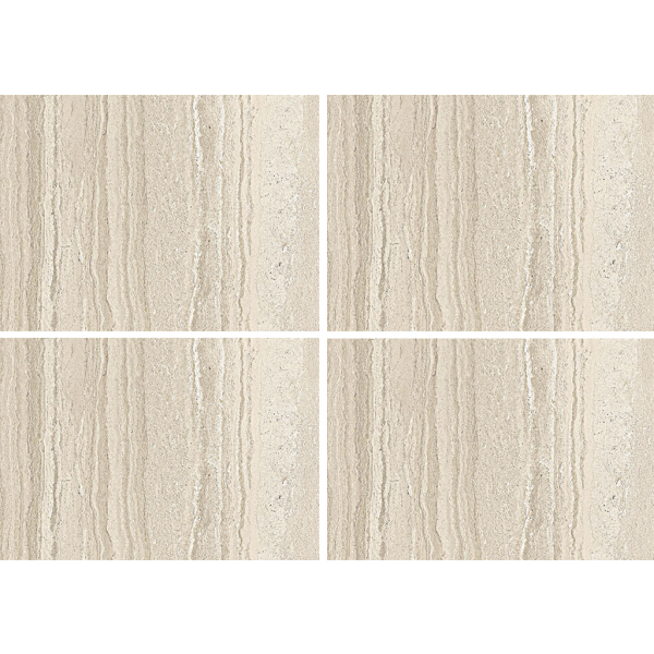 TRAVERTINO RECTIFIED MARBLE PORCELAIN TILES 59 CM X 59 CM