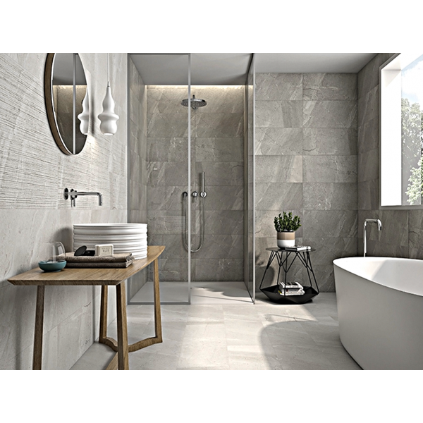 DECOR TREVISO GREY MARBLE PORCELAIN TILES 30 CM x 60 CM