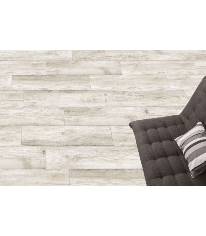 American bos white wood effect porcelain tile