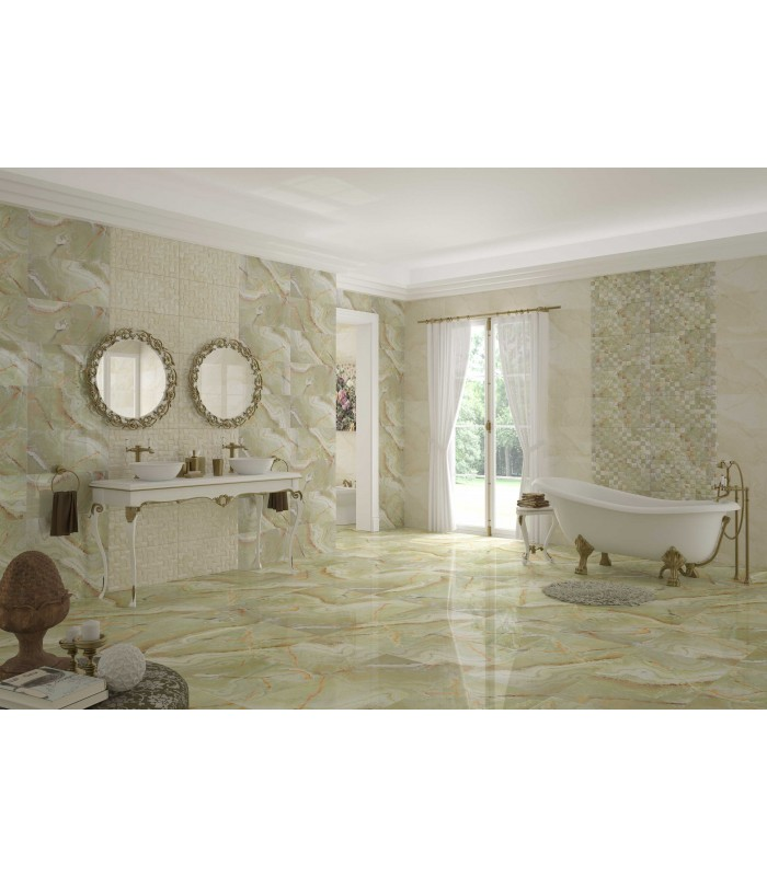 Green Mosaic Polished Tiles